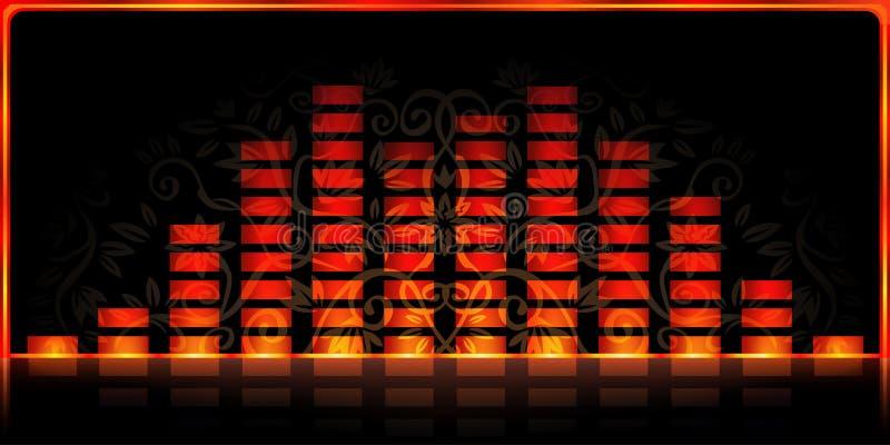 Analisador de espectro do incêndio ilustração do vetor
