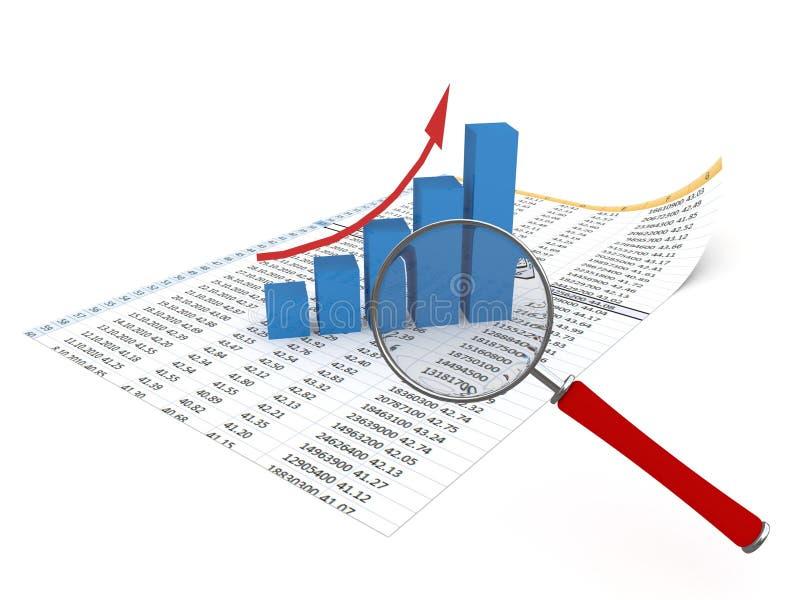 Analisando dados ilustração do vetor