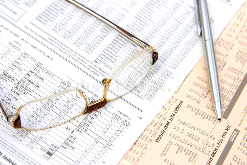 Analisando o negócio foto de stock royalty free