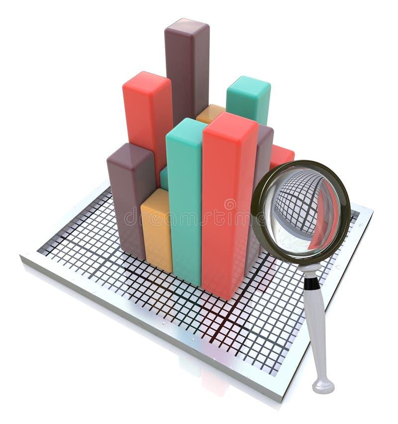 Analisando os dados ilustração stock