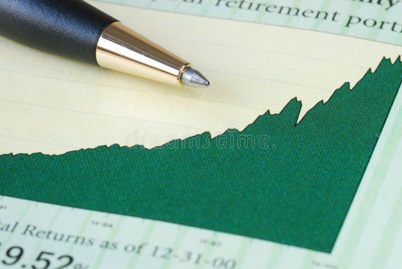 Analise o retorno de investimento fotografia de stock royalty free