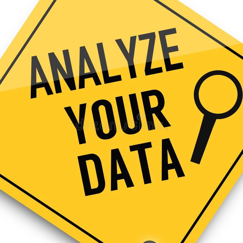 Analise seus dados, cartaz da imagem do negócio, qualidade super ilustração stock