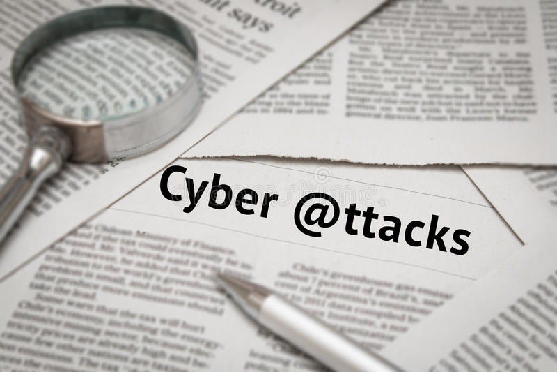 Analisi cyber di attacchi fotografia stock libera da diritti