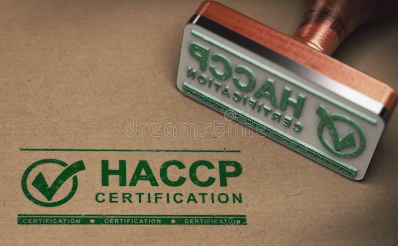 Analisi dei rischi di HACCP dei punti di controllo critici illustrazione di stock