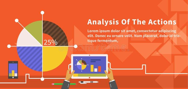 Analisi delle azioni Infographic illustrazione vettoriale
