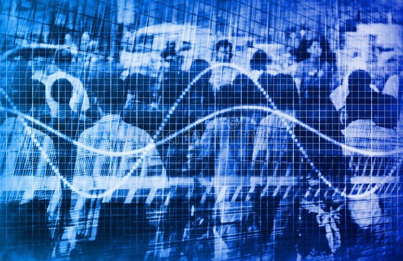 Analisi di dati di traffico di Web illustrazione vettoriale