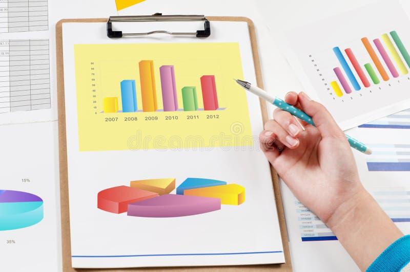 Analisi Di Dati Finanziari Fotografie Stock