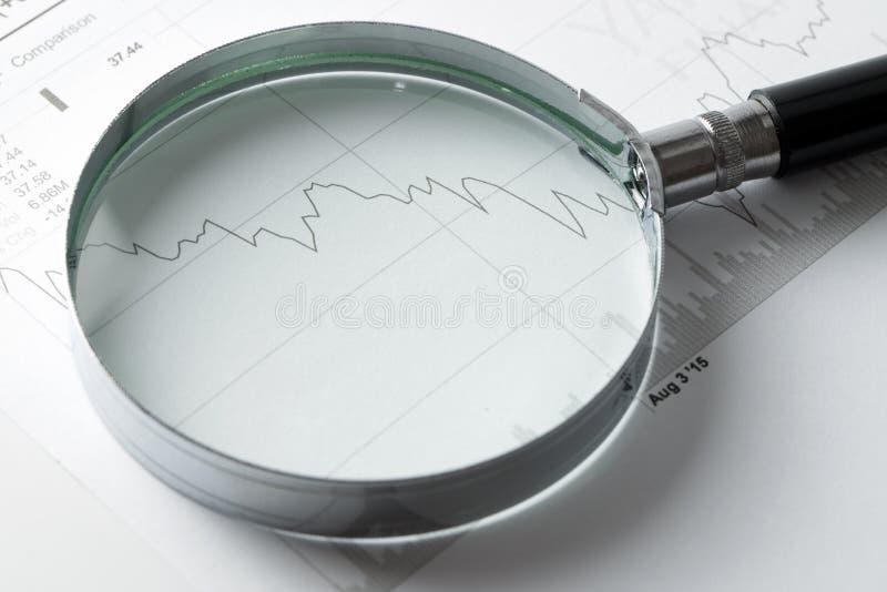 Analisi di mercato di riserva fotografia stock