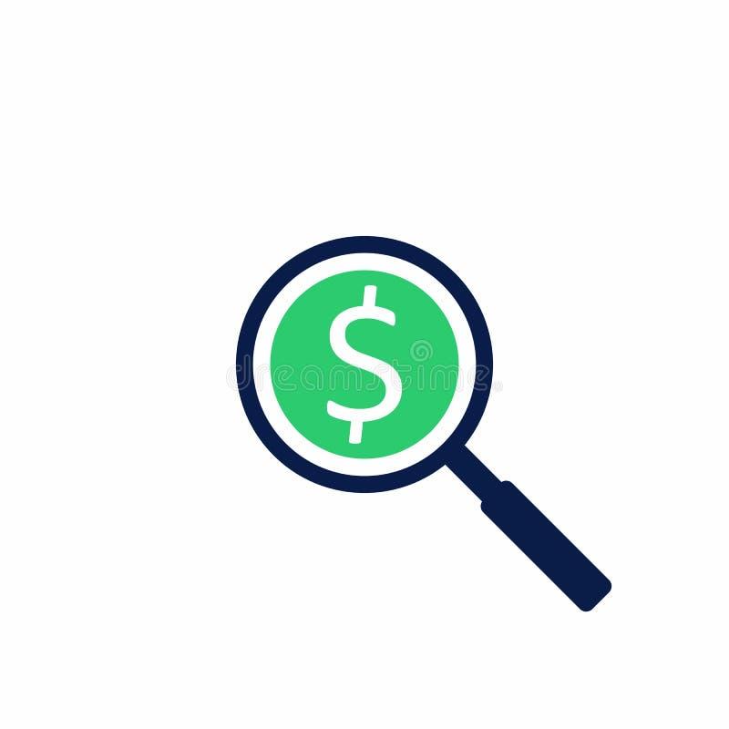 Analisi di profitto, finanza, affare, nessun fondo, vettore, icona piana illustrazione vettoriale
