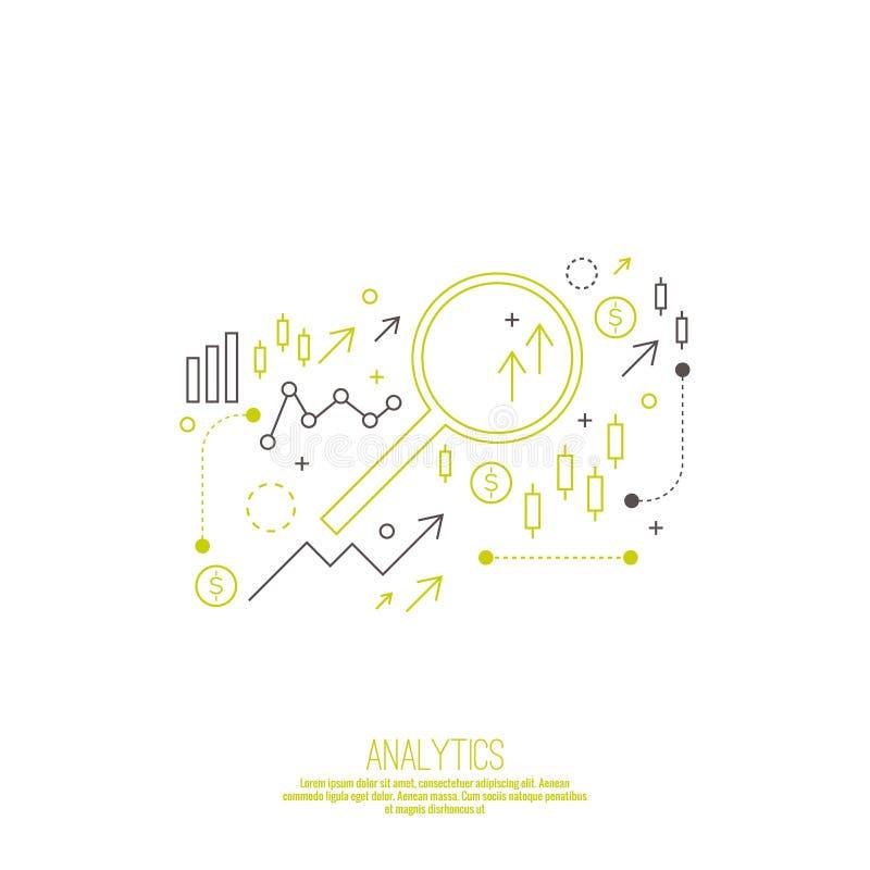 Analisi e rapporto della gestione finanziaria illustrazione di stock