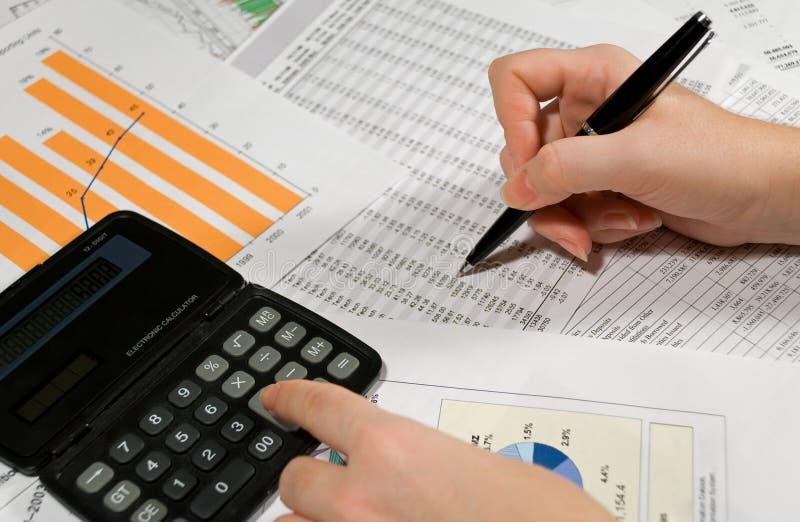 Analisi finanziaria fotografia stock