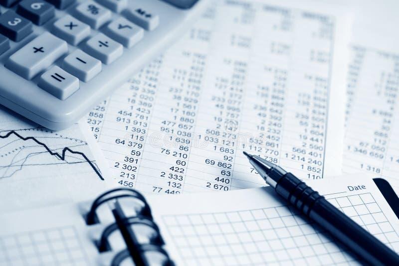 Analisi finanziaria. fotografia stock
