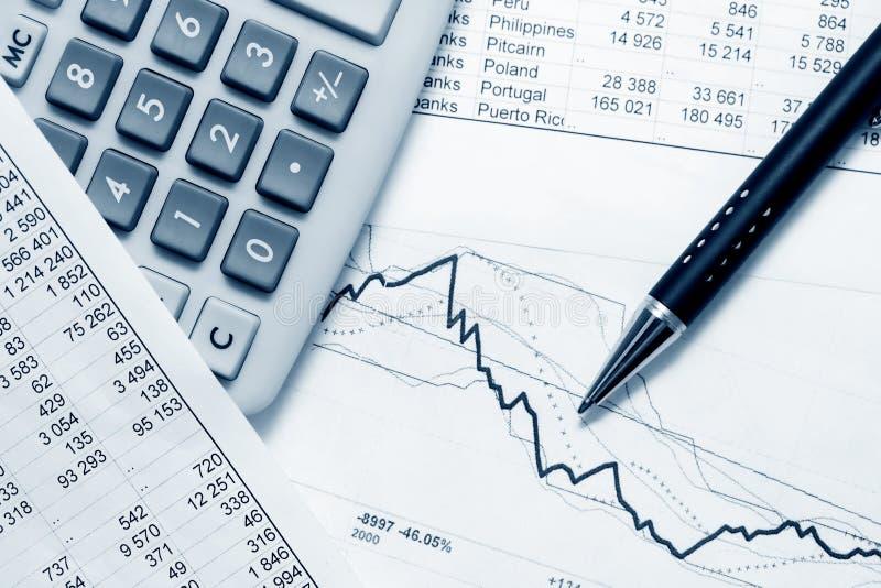 Analisi finanziaria. fotografia stock libera da diritti