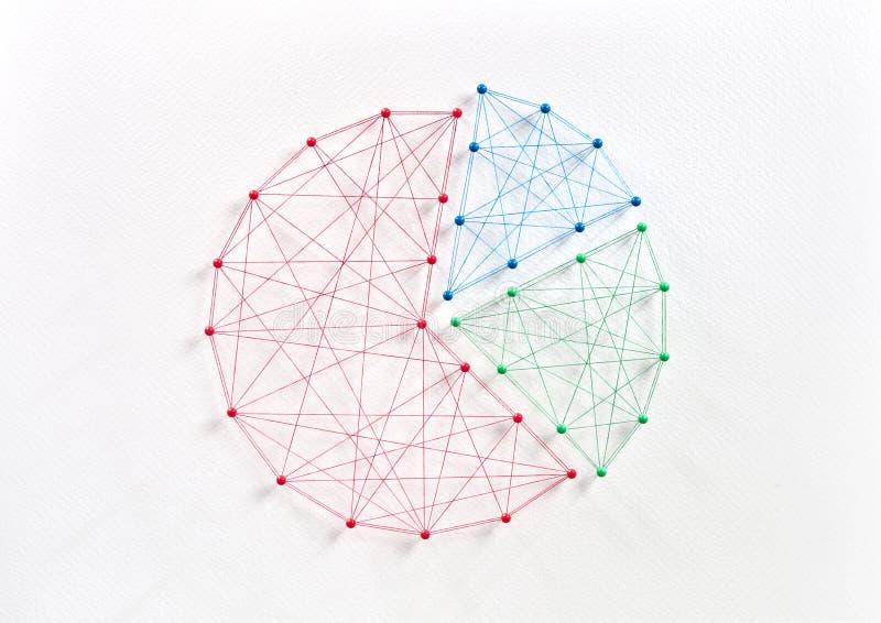 Analitisch cirkeldiagramconcept royalty-vrije stock afbeeldingen