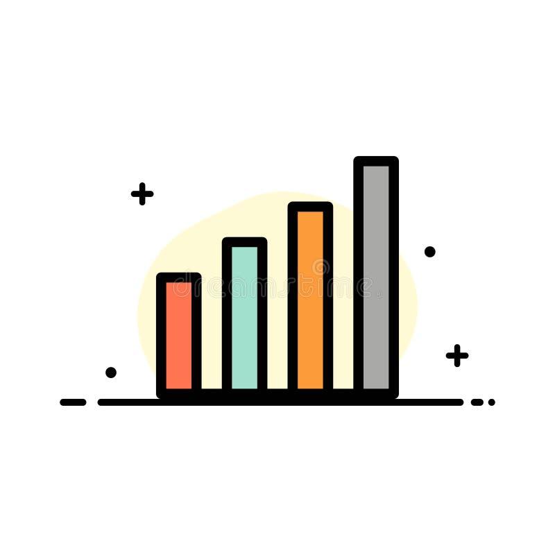 Analitisch, Interface, Signaal, Malplaatje Gebruikers van de Bedrijfs het Vlakke Lijn Gevulde Pictogram Vectorbanner stock illustratie