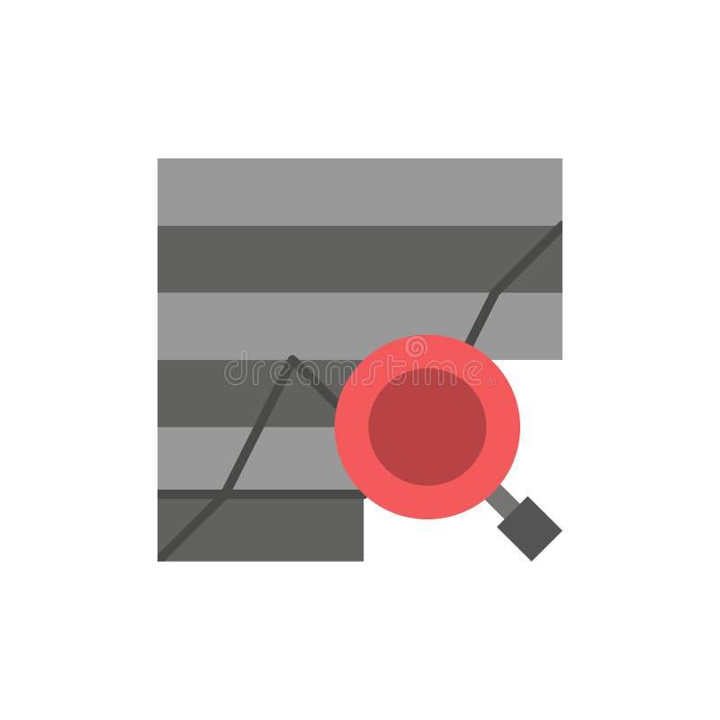 Analitische analyse, Analytics, Grafiek, Gegevens, Pictogram van de Grafiek het Vlakke Kleur Het vectormalplaatje van de pictogra royalty-vrije illustratie