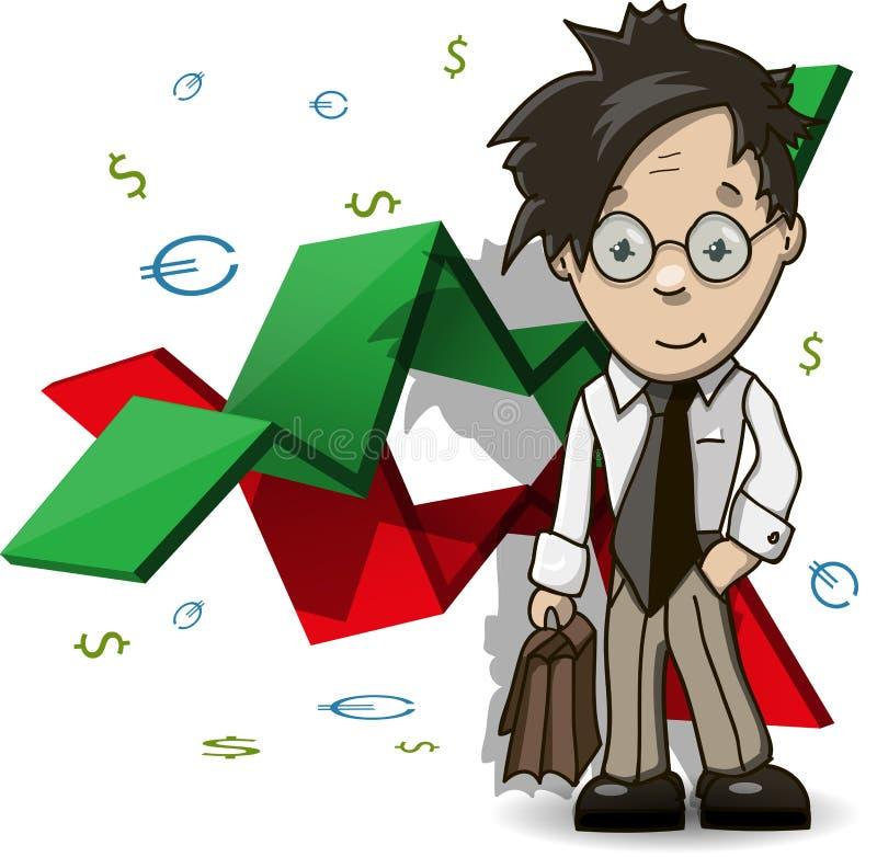 Analityk Finansowy royalty ilustracja
