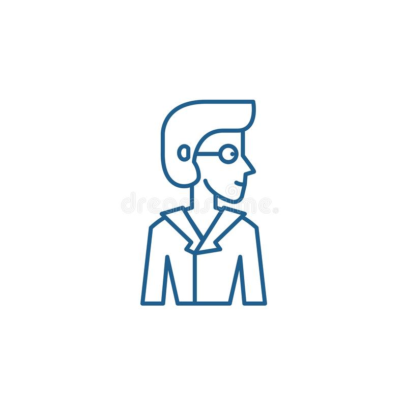 Analityk ikony kreskowy pojęcie Analityka płaski wektorowy symbol, znak, kontur ilustracja royalty ilustracja