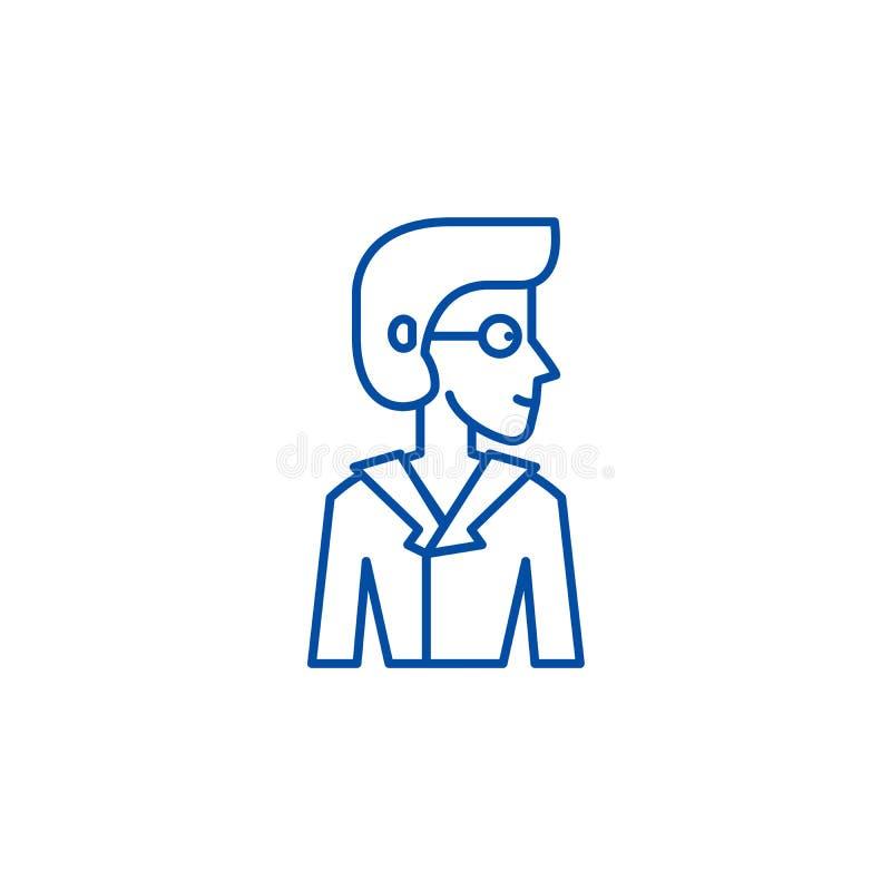 Analityk ikony kreskowy poj?cie Analityka p?aski wektorowy symbol, znak, kontur ilustracja royalty ilustracja