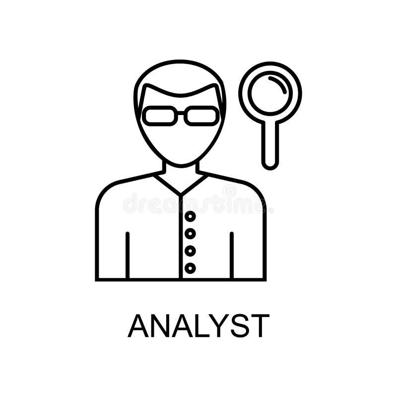 analityk kreskowa ikona Element dział zasobów ludzkich ikona dla mobilnych pojęcia i sieci apps Cienka kreskowa analityk ikona mo ilustracja wektor