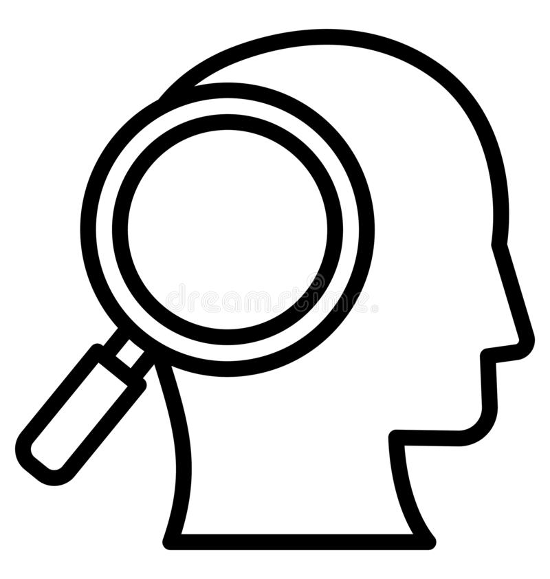 Analityk Odizolowywał Wektorową ikonę która może łatwo modyfikować lub redagować analityka Odizolowywał Wektorową ikonę która moż ilustracji