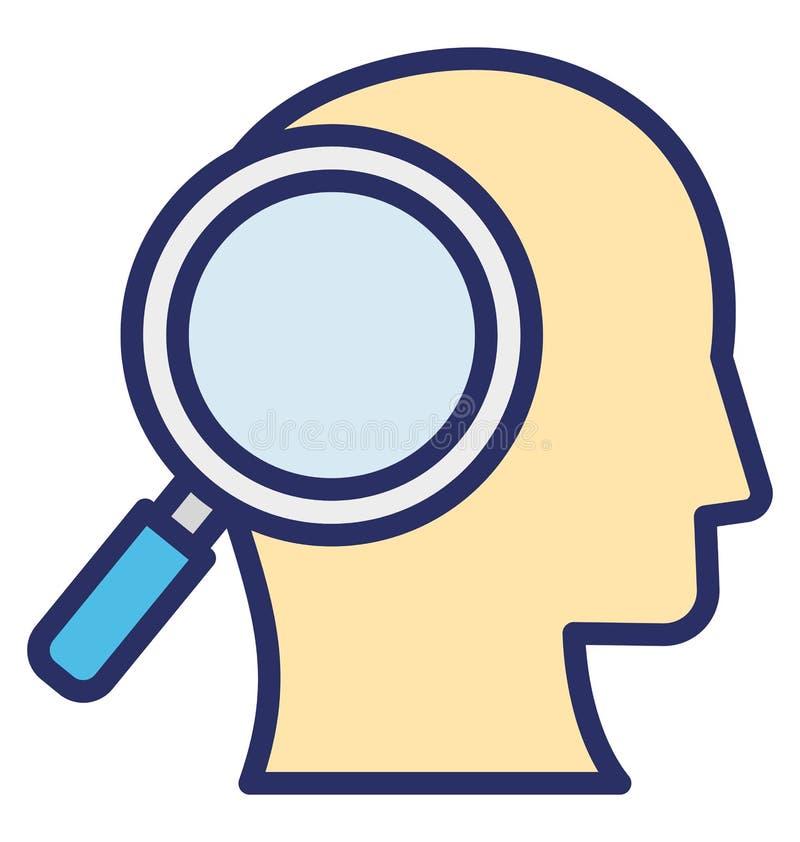 Analityk Odizolowywał Wektorową ikonę która może łatwo redagować lub modyfikować ilustracji