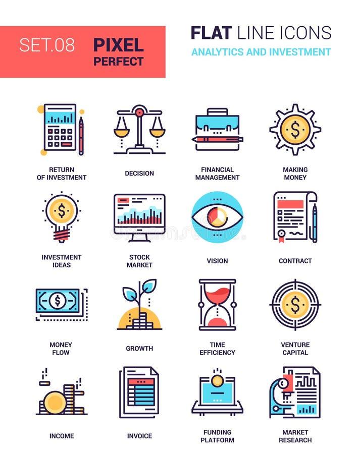 Analityka i inwestycja ilustracja wektor