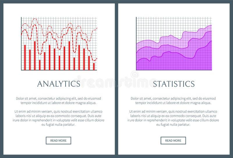 Analityka i statystyki przedstawicielstwa Wizualny set ilustracji