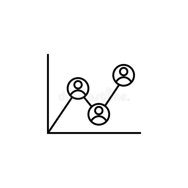 Analityka, pracownik, raportowa ikona na białym tle Może używać dla sieci, logo, mobilny app, UI, UX ilustracja wektor