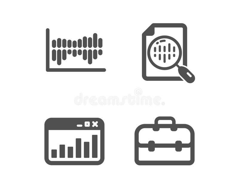 Analityka sporz?dzaj? map?, Wprowadza? na rynek statystyki i Szpaltowego diagrama ikony Portfolio znak wektor ilustracja wektor