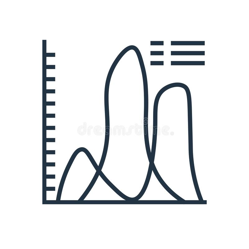 Analityki ikony wektor odizolowywający na białym tle, analityka podpisuje ilustracji