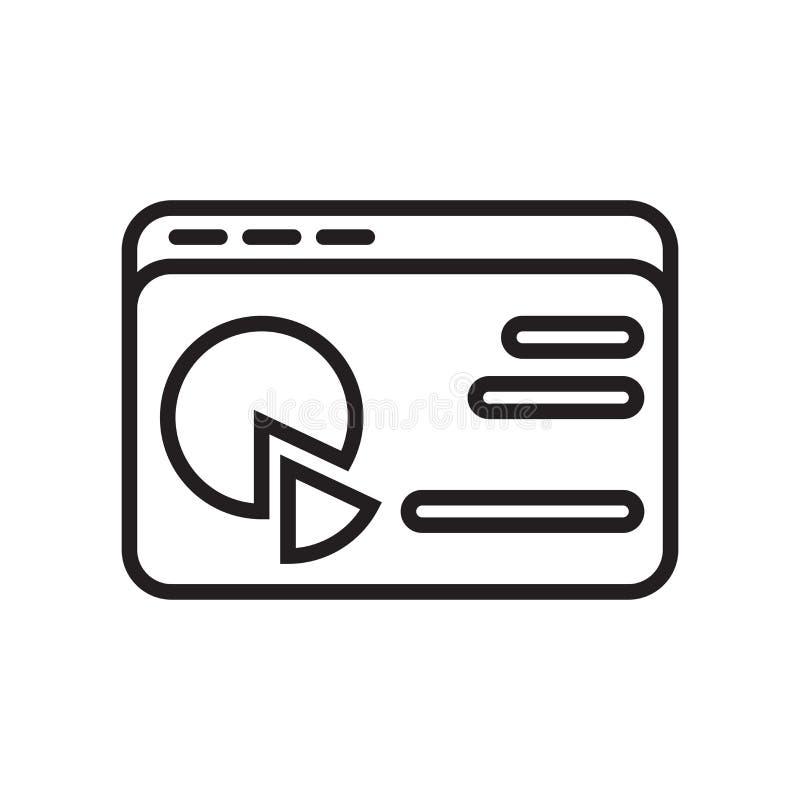 Analityki ikony wektoru znak i symbol odizolowywający na białym backgrou royalty ilustracja