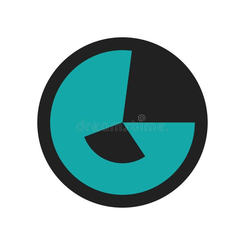Analityki ikony wektoru znak i symbol odizolowywający na białym tle, analityka loga pojęcie royalty ilustracja
