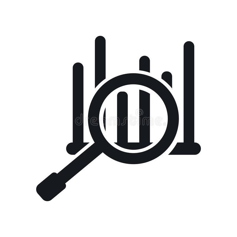 Analityki ikony wektoru znak i symbol odizolowywający na białym tle, analityka loga pojęcie ilustracja wektor