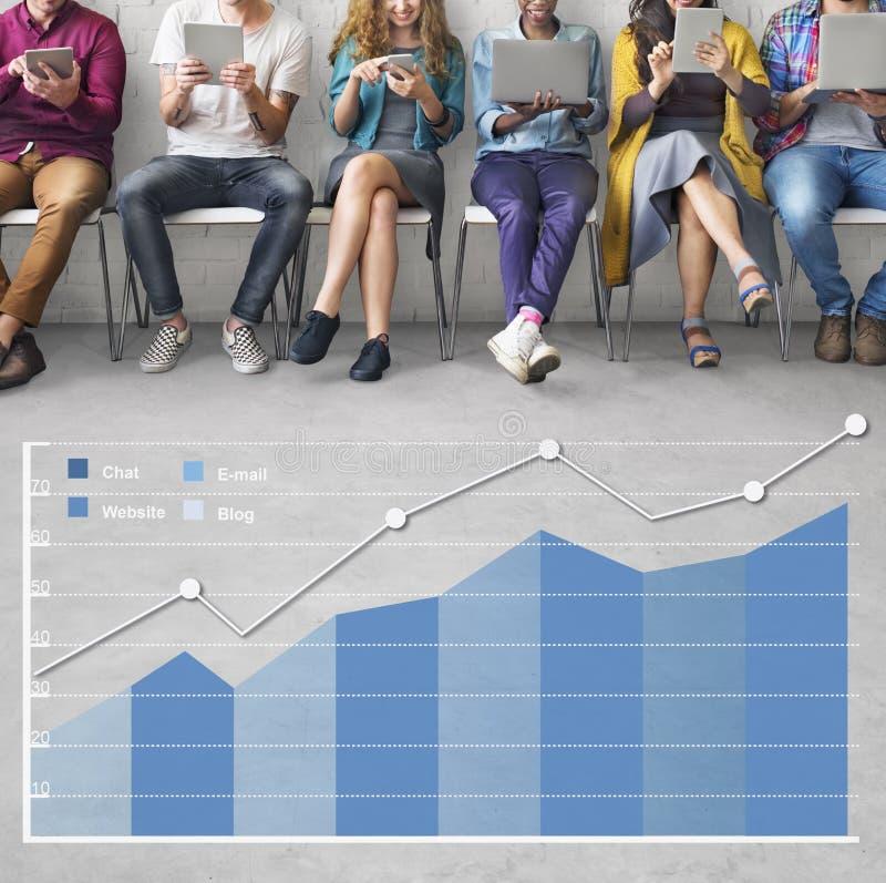 Analiz analityka Biznesowych statystyk pojęcie fotografia stock