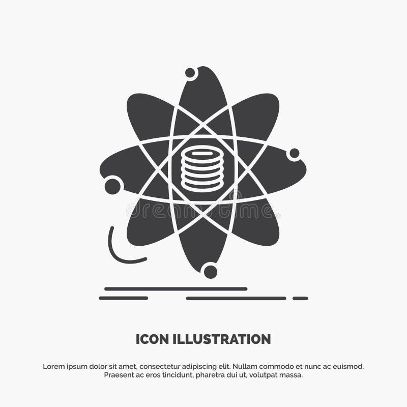 Analiza, dane, informacja, badanie, nauki ikona glifu wektorowy szary symbol dla UI, UX, strona internetowa i wisz?cej ozdoby zas ilustracja wektor