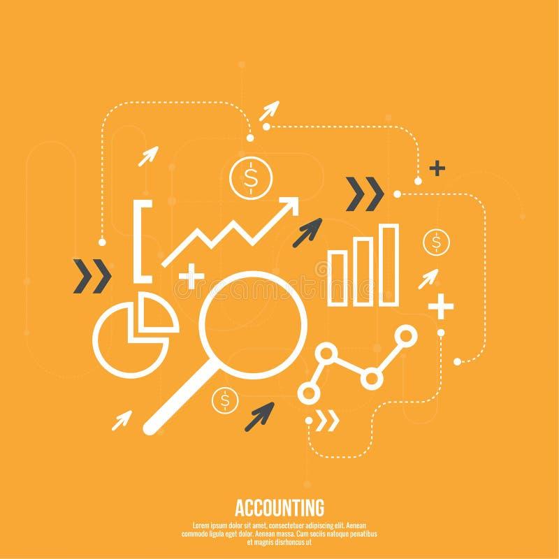 Analiza i zarządzanie finansami ilustracja wektor