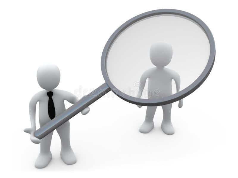 analiza klient ilustracja wektor