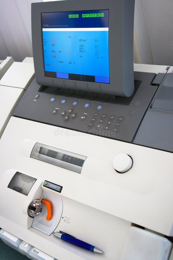 analiza krwi urządzenia medyczne zdjęcie royalty free