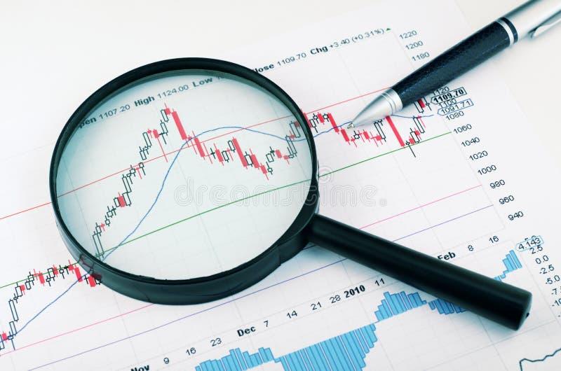 Analizar el mercado de acción fotografía de archivo libre de regalías