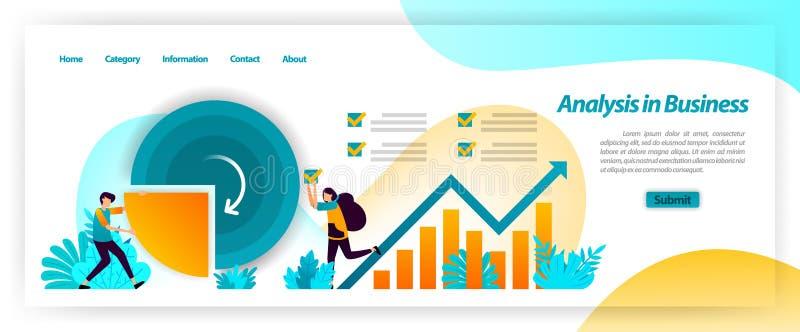 Analizuje biznesowych dane statystyki na firma planu i mapy pieniężnych strategiach brainstorming z pracą zespołową r?wnie? zwr?c ilustracji