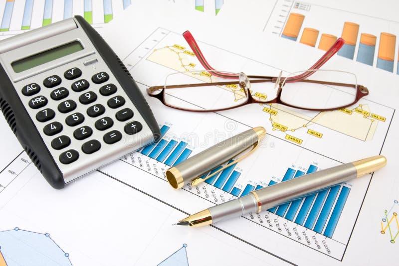 analizy biznesu raporty obraz stock