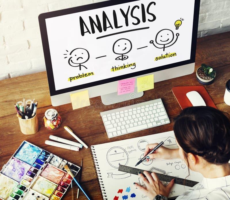 Analizy Kreatywnie główkowania Brainstorm pojęcia ludzie zdjęcie stock