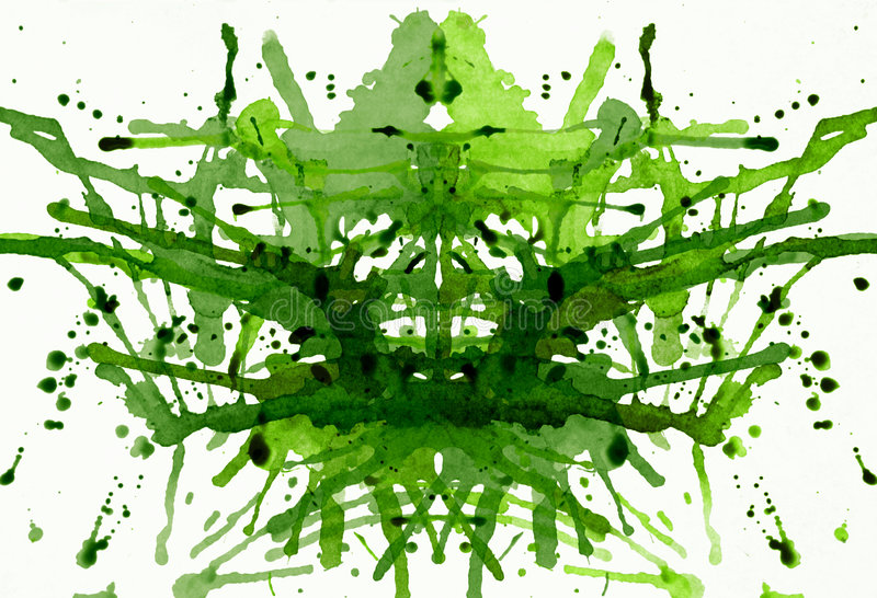 analizy psychiczny zielony zdjęcia stock