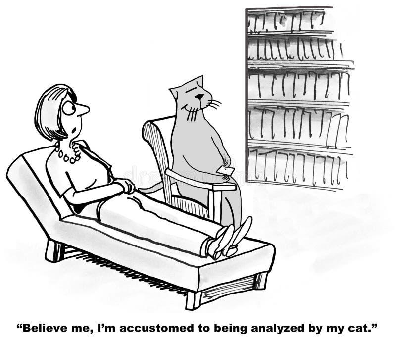 Analizzato dal gatto royalty illustrazione gratis