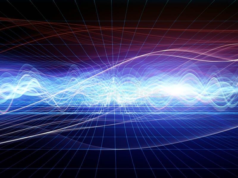 Analizzatore di onda astratto illustrazione vettoriale