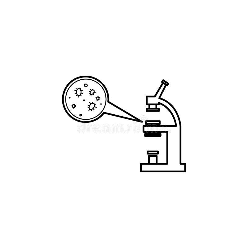 Analizzi la linea icona di concetto dei batteri Illustrazione semplice dell'elemento Analizzi la progettazione di simbolo del pro royalty illustrazione gratis