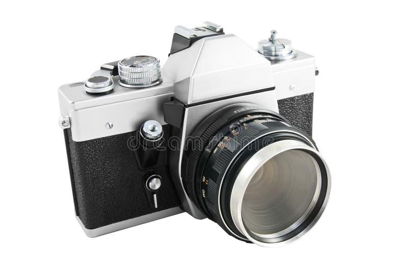 Analog camera. Old 35 mm analog camera royalty free stock image