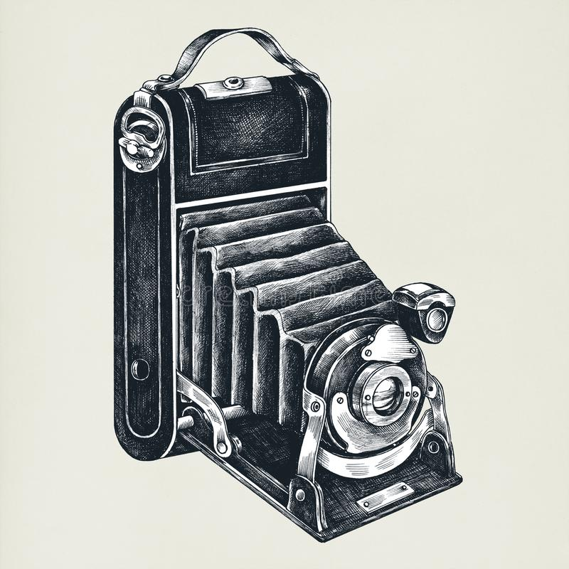 Analog camera vintage style illustration royalty free stock image