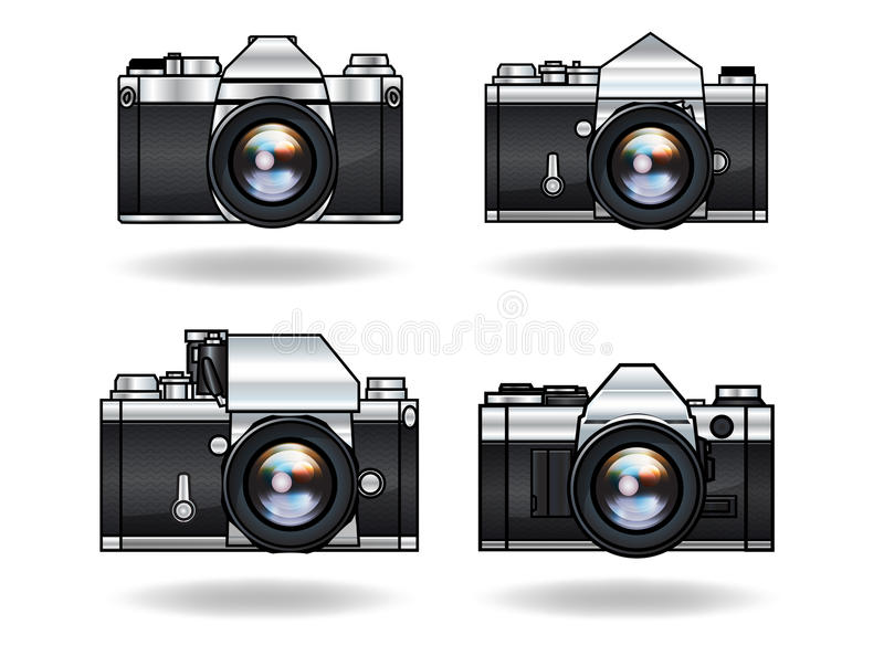 Analog cameras stock photo